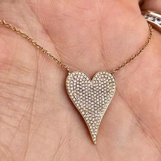 Diamond Heart Necklace Medium