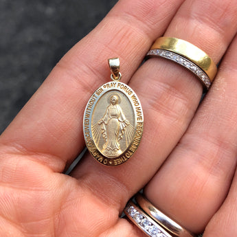 Miraculous Medal in Yellow Gold Medium