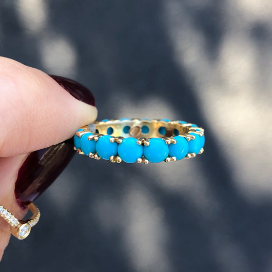 Turquoise Bubble Eternity Ring