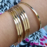 Yellow Gold Bangle Bracelets for Girls