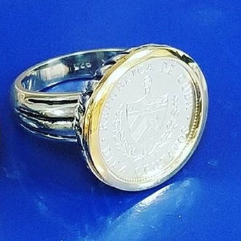 Cuban Silver Crest Ring