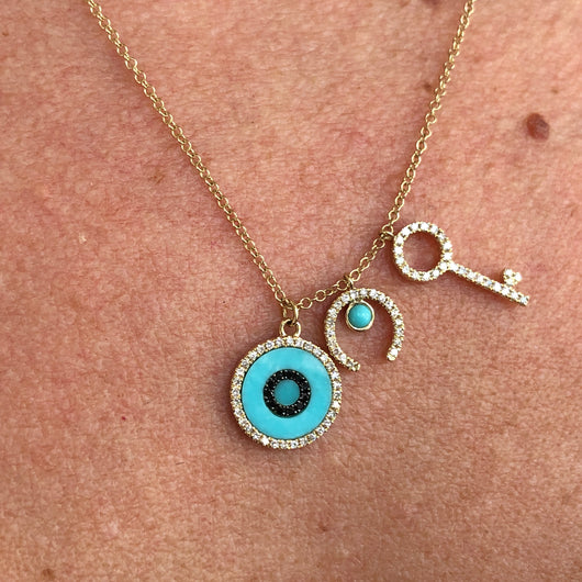 Turquoise Lucky Charms Necklace