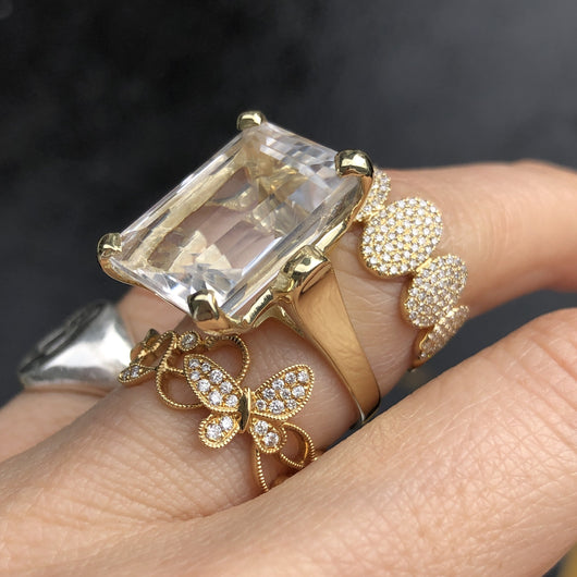 Clear Topaz Ring