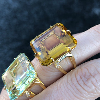 Big Champagne Citrine Ring