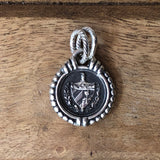 Cable Cuban Crest Pendant Small