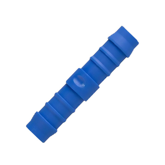 Blue 6mm Straight Pipe Connector