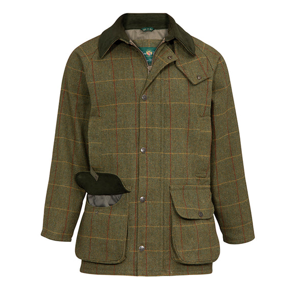 Alan Paine Rutland Men's Tweed Waterproof Shooting Coat - Oak