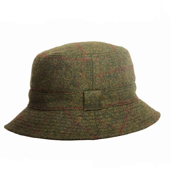 Reversible Tweed Hat - Green