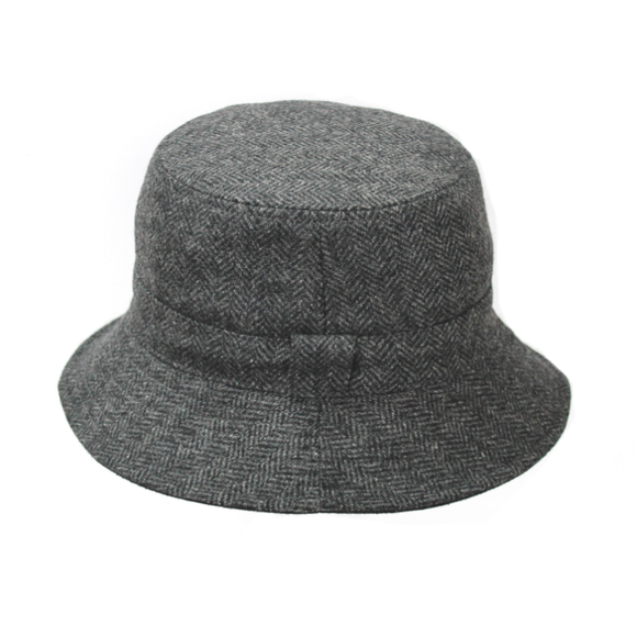 Reversible Tweed Hat - Grey