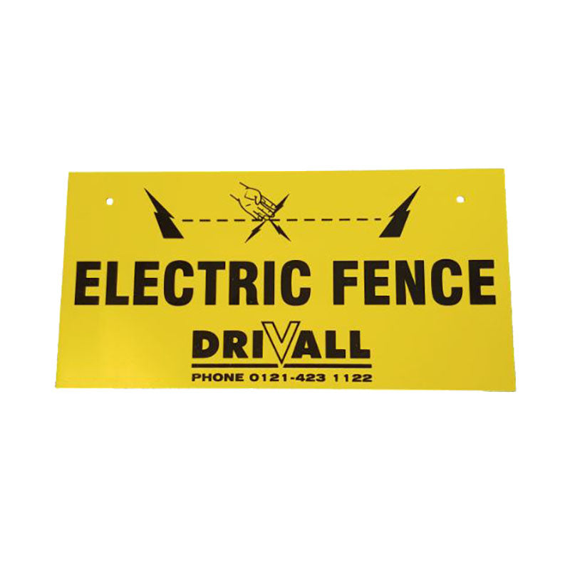 Electric Fence Warning Signs - Drivall