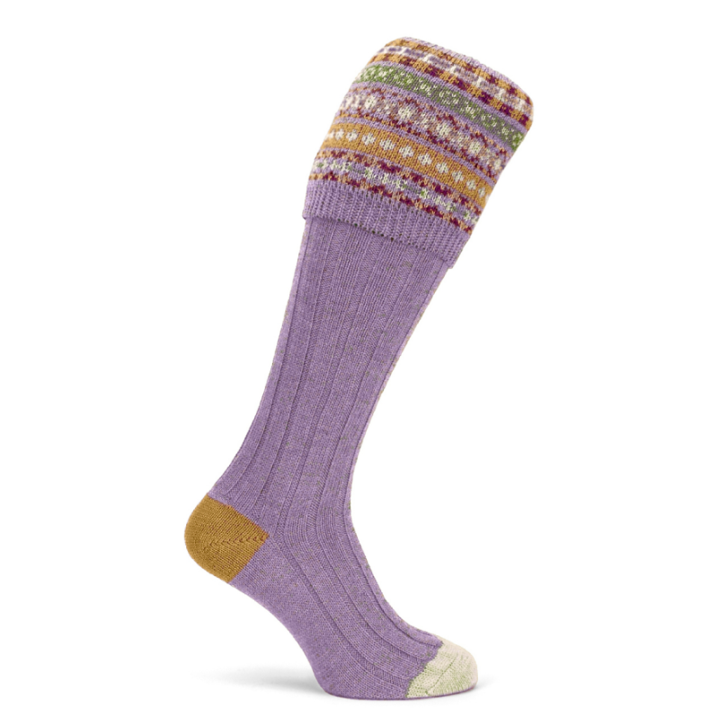 Fairisle Shooting Sock - Thistle