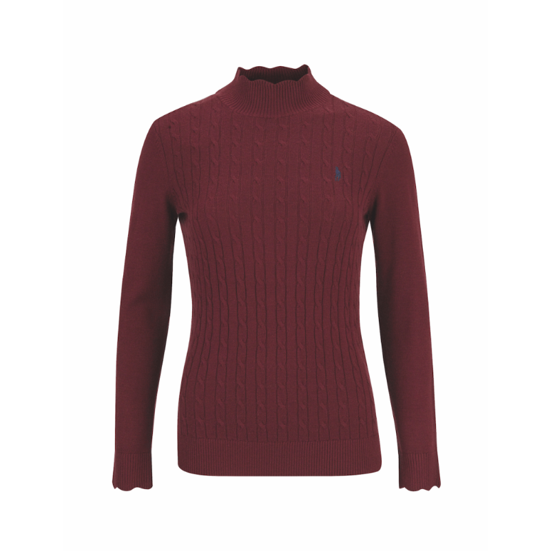 Gillian Turtle Neck - Winter Burgundy