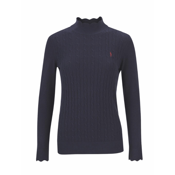 Gillian Turtle Neck - Heritage Navy
