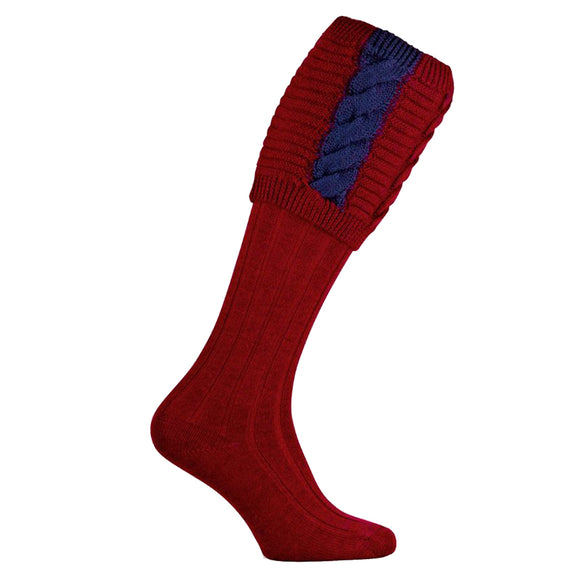 Governor Shooting Socks - Burgundy