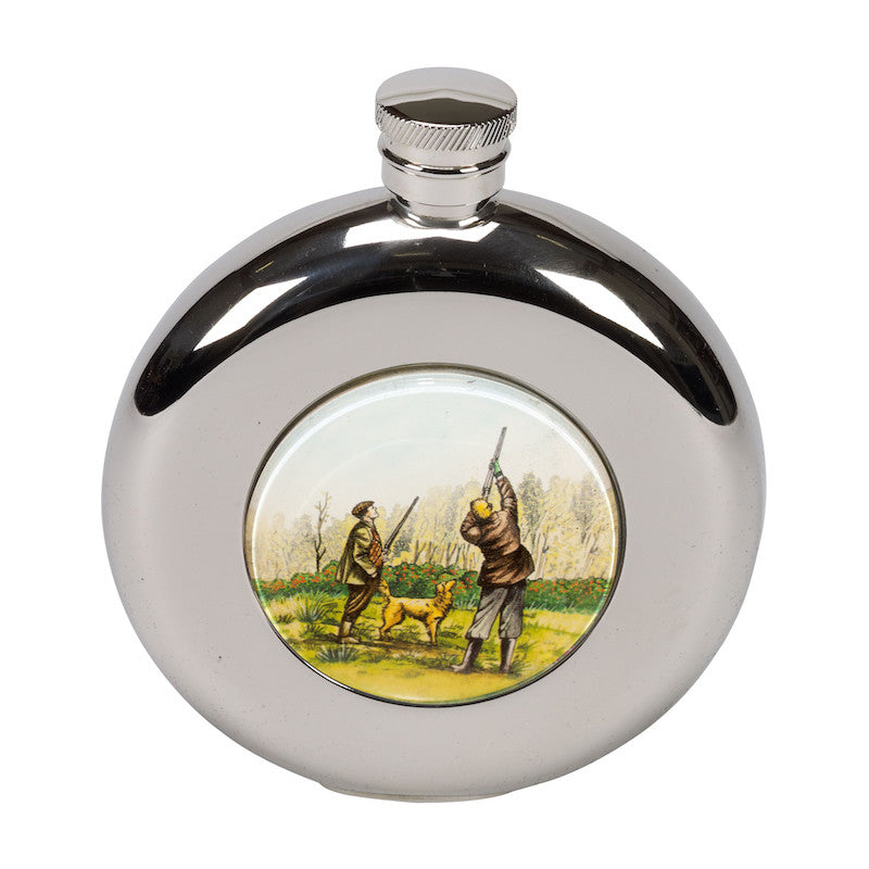 4.5oz Round Shooting Hip Flask