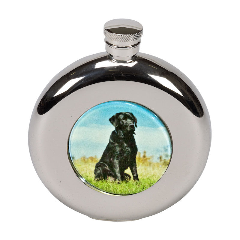 4.5oz Round Labrador Hip Flask