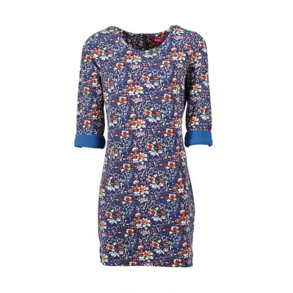 Blair Jersey Dress - Holiday Flower