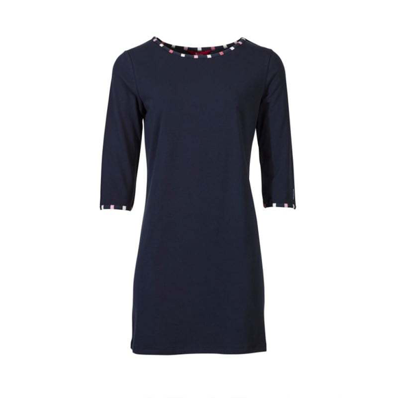 Hazel Jersey Dress - Navy Blue Mix