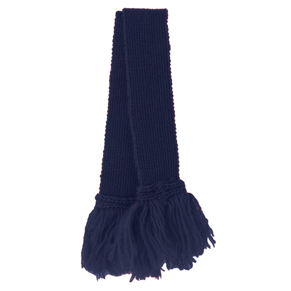 Hand Knitted Garters - Navy