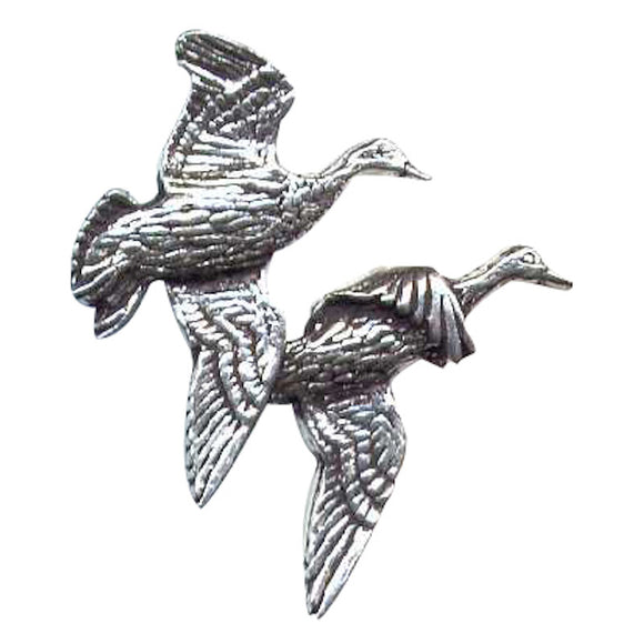 Bisley Pewter Pin No5. Pair of Ducks