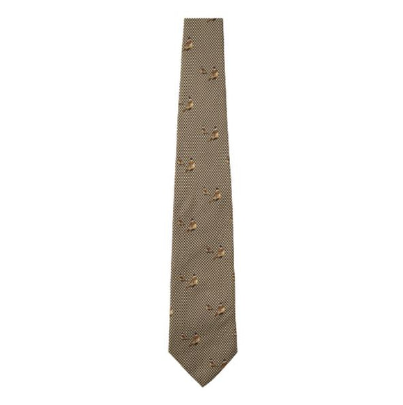 Seeland Morgan silk tie-Faun Brown