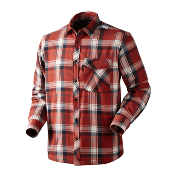 Seeland Moscus Shirt-Red Checked.