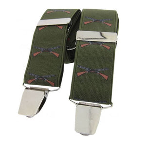 Soprano Country Shotgun Green 35mm X Style Back Braces