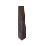 Wool Tie - Plain Brown