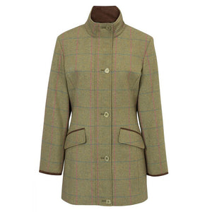 Alan Paine Combrook Ladies Tweed Field Jacket (Shooting Fit) in Juniper