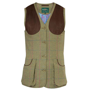 Combrook Ladies Tweed Shooting Waistcoat (Classic Fit) - Juniper