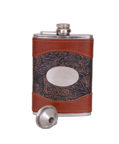 6oz Crossed Guns Hip Flask