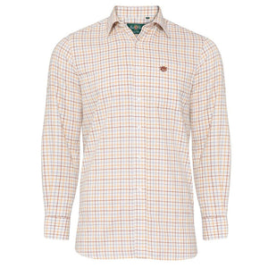 Ilkley Childrens Check Country Shirt - Brown Check