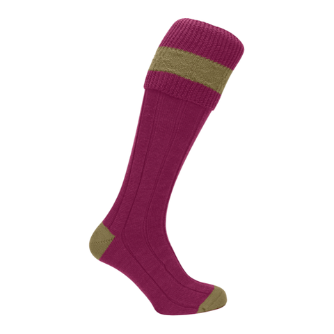 Fairisle Shooting Sock - Crimson