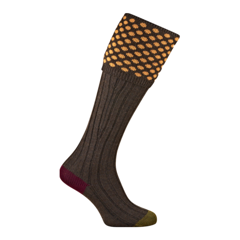 The Kendal Shooting Sock - Gold