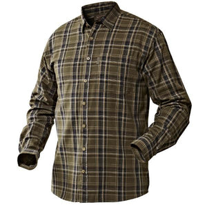 Edwin Shirt by Seeland in a Shaded Olive Check - Small