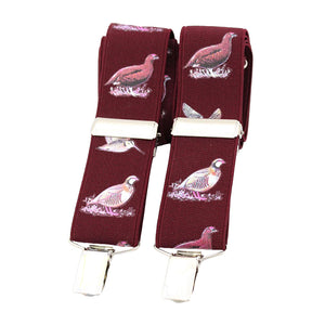 Soprano Country Birds Wine 35mm X Back Braces