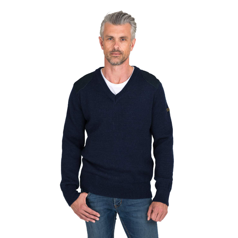 Forrester Vee Neck Jumper - Navy