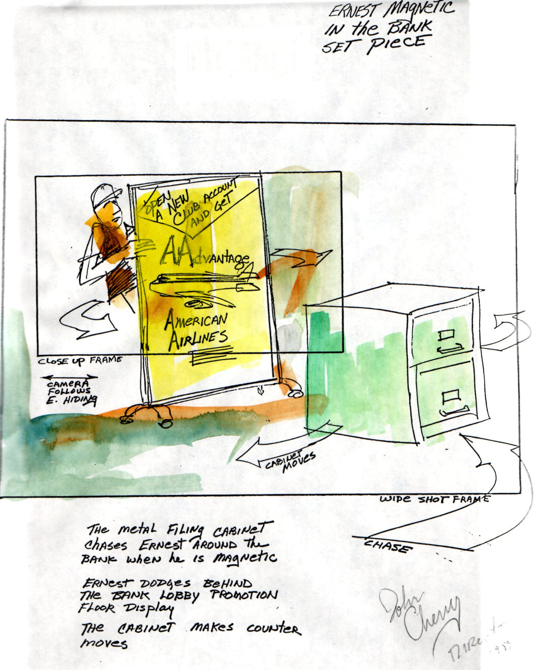 Opening Sequence, Magnetic Ernest - Ernest Goes to Jail Storyboard - SBJ012