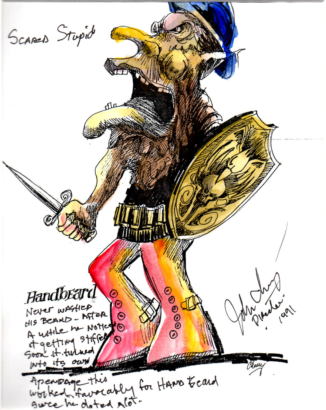 Handbeard - Ernest Scared Stupid Pre-Production Troll Design - SBS022