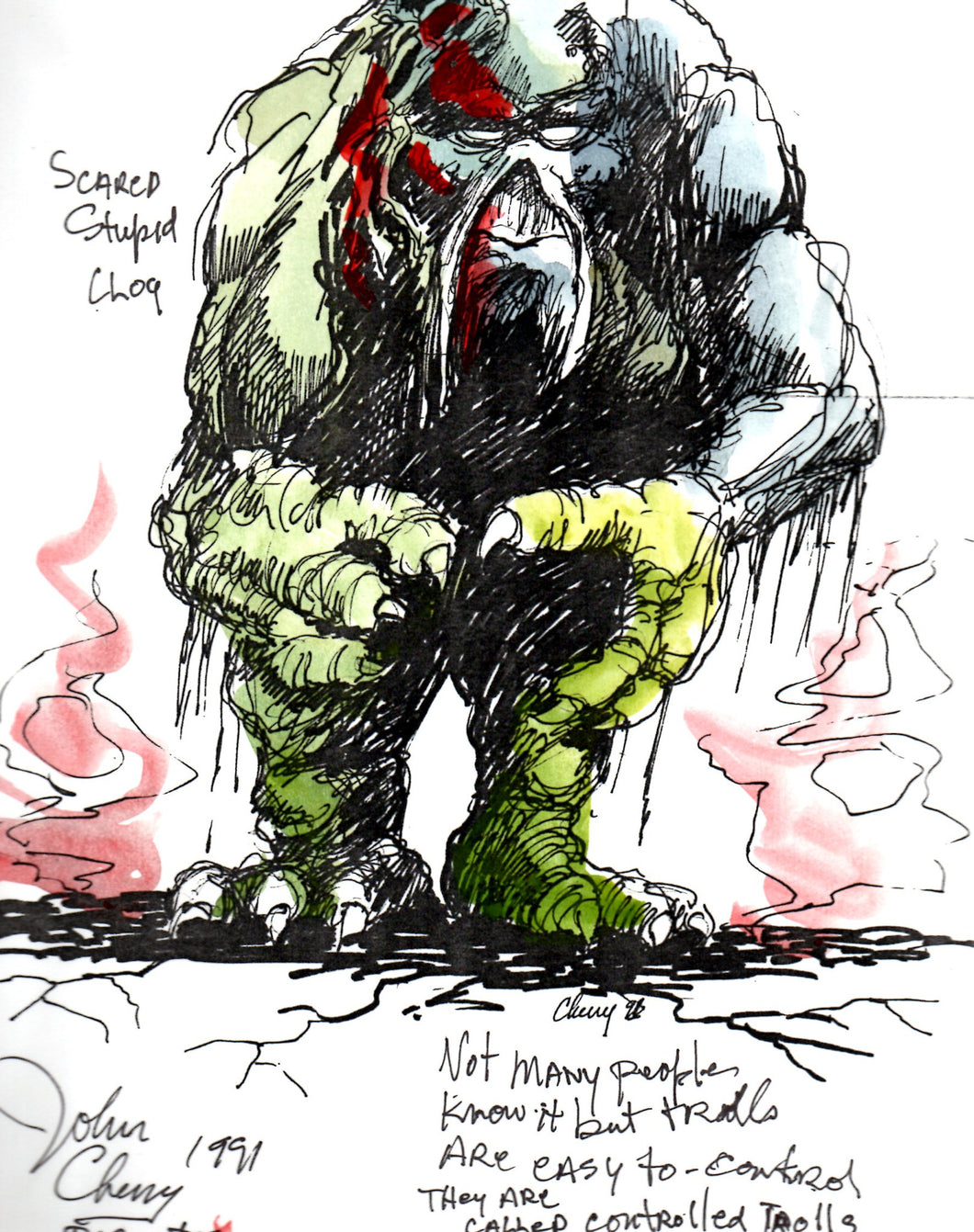 Clog - Ernest Scared Stupid Pre-Production Troll Design - SBS029