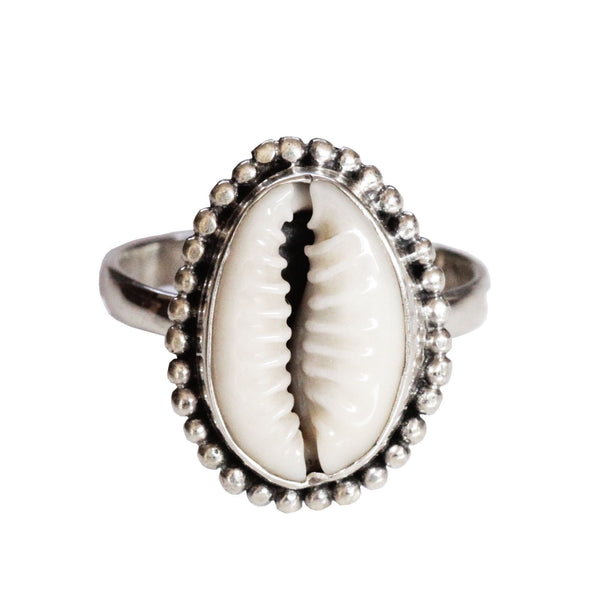 Cowrie Boho Ring