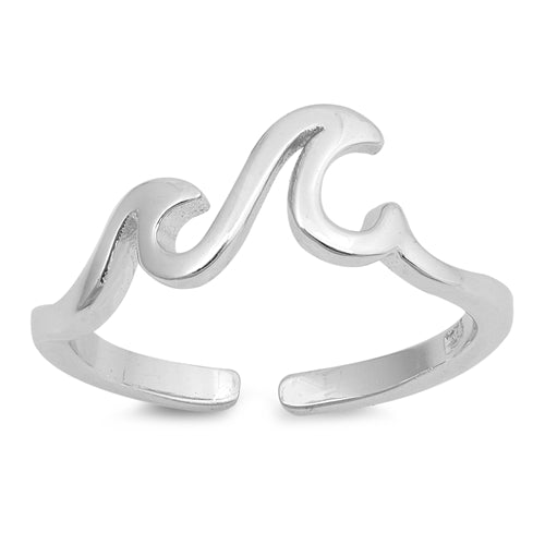 Little Waves Toe Ring