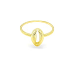 Golden Cowrie Ring