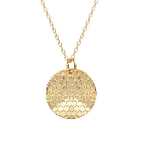 Honeycomb Disc Necklace