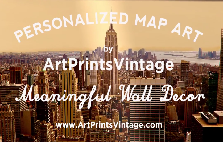 Custom map art makes the perfect personalized gift