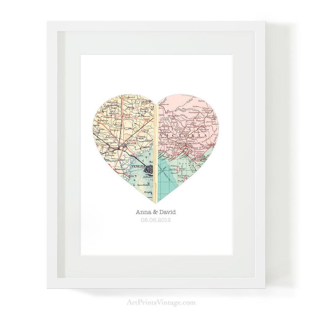 Valentine's Day gift idea with custom map art