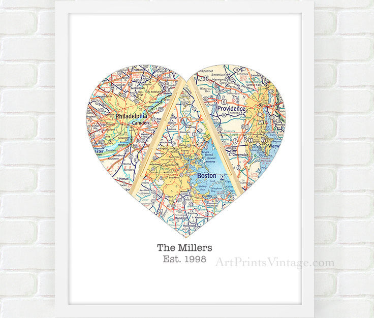 Unique Mother's Day Gift Ideas with Personalized Heart Map Art