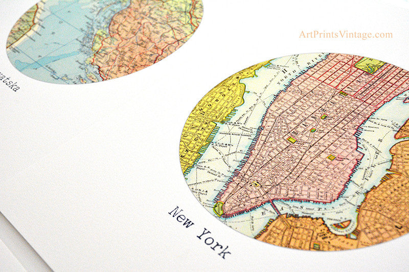 Our customized map prints - smiles shipped worldwide