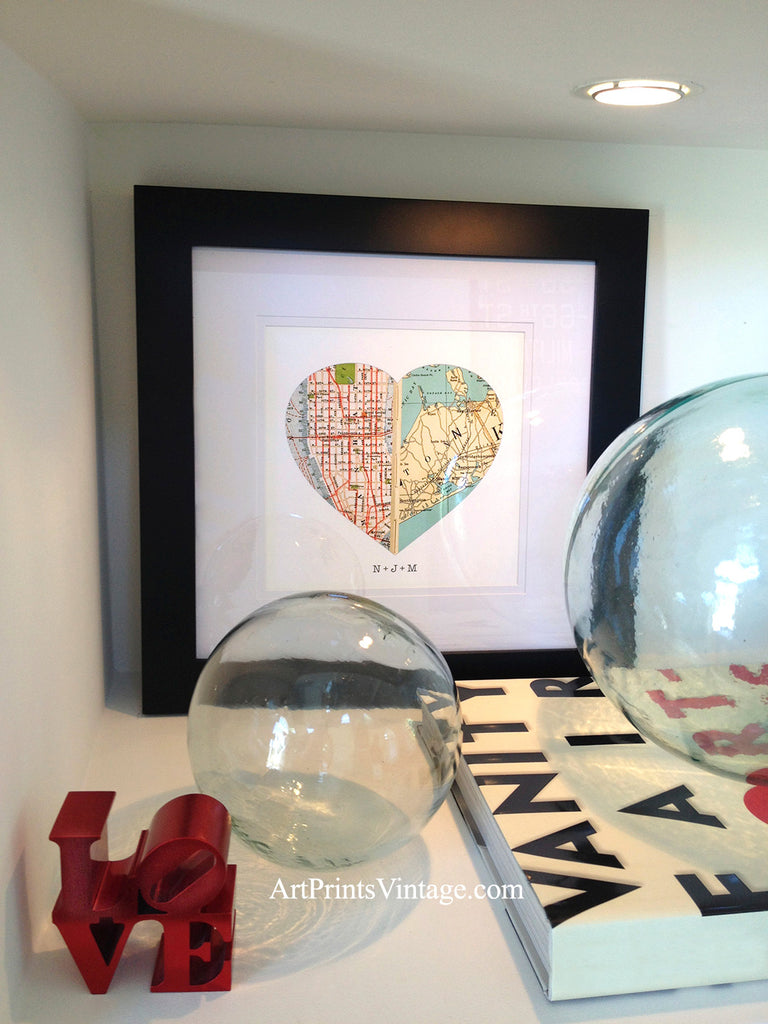 Unique and thoughtful gifts with personalized map art