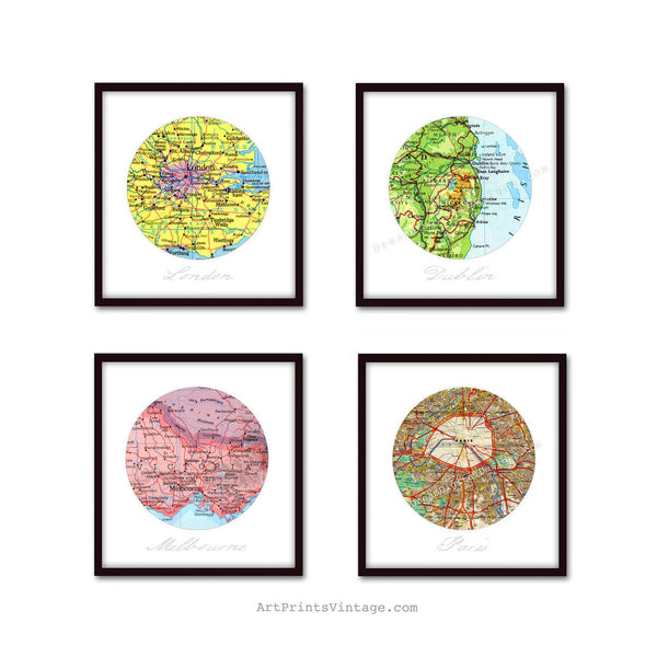 Custom map art for Anniversary gifts, 1st anniversary, First Anniversary Gift